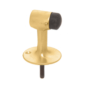 CRL DL2522PB Polished Brass Floor Mounted Heavy-Duty Door Stop