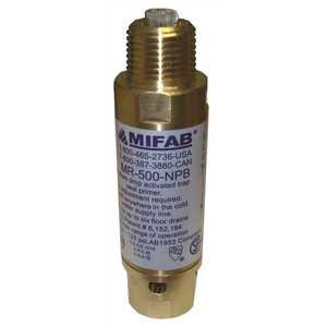Mifab M1-500 M-500 PRESSURE DROP ACTIVATED TRAP SEAL PRIMER FOR UP TO 10 FLOOR DRAIN TRAPS, 1/2 IN. CONNECTIONS Brass