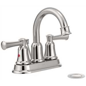 Cleveland Faucet Group 41217 Capstone 4 in Centerset 2-Handle Bathroom Faucet with Drain Assembly in Chrome