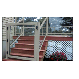 """CRL 1GG3642AGY Agate Gray 36"""" 100 Series Aluminum Railing System Gate for 1/4"""" to 3/8"""" Glass"""