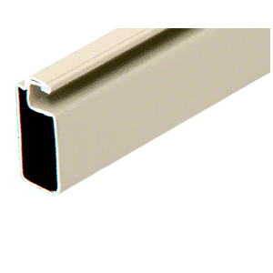 "CRL WSF346BGE Beige 3/4"" x 3/8"" Roll Formed Aluminum Screen Frame - 144"""