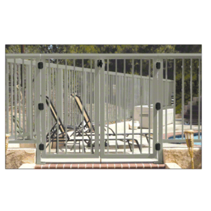 """CRL 35PG3642BGY Beige Gray 36"""" 350 Series Aluminum Railing System Gate With Picket for 1/4"""" to 3/8"""" Glass"""