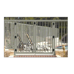 """CRL 1PG3642BGY Beige Gray 36"""" Aluminum Railing System Gate with Picket for 1/4"""" to 3/8"""" Glass"""