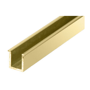"""CRL 1N06BR Brite Gold Anodized 6mm Replacement 36"""" Snap-In Filler Insert for Junior Headers"""