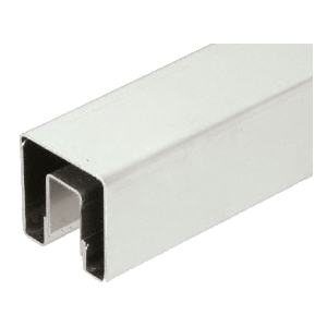 "CRL GRS15BS Brushed Stainless 1-1/2"" Square Premium Cap Rail for 1/2"" Glass - 120"" Long"