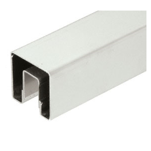 "CRL GRS20BS Brushed Stainless 2"" Square Premium Cap Rail for 1/2"" or 5/8"" Glass - 120"" Long"