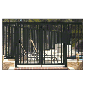 """CRL 2PG3642BL Matte Black 36"""" 200 Series Aluminum Railing System Gate With Picket for 1/4"""" to 3/8"""" Glass"""