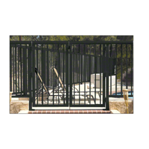 """CRL 35PG3642BL Matte Black 36"""" 350 Series Aluminum Railing System Gate With Picket for 1/4"""" to 3/8"""" Glass"""