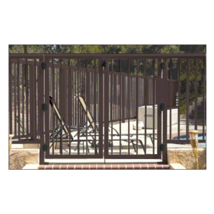 """CRL 3PG3642BRZ Matte Bronze 36"""" 300 Series Aluminum Railing System Gate With Picket for 1/4"""" to 3/8"""" Glass"""