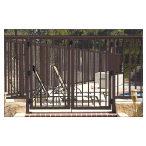 """CRL 2PG3642BRZ Matte Bronze 36"""" 200 Series Aluminum Railing System Gate With Picket for 1/4"""" to 3/8"""" Glass"""