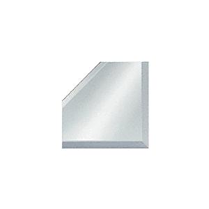 "CRL BM2M3 Clear Mirror Glass 3"" Mitered Corner Beveled on 3 Sides"