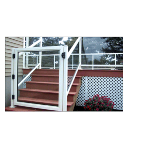 """CRL 1GG3642W Sky White 36"""" 100 Series Aluminum Railing System Gate for 1/4"""" to 3/8"""" Glass"""