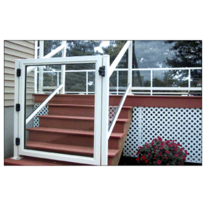 """CRL 2GG3642W Sky White 36"""" 200 Series Aluminum Railing System Gate for 1/4"""" to 3/8"""" Glass"""