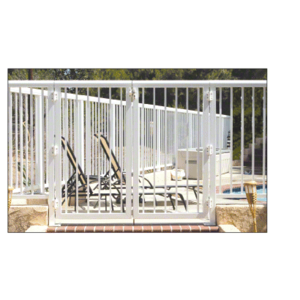 """CRL 3PG3642W Sky White 36"""" 300 Series Aluminum Railing System Gate With Picket for 1/4"""" to 3/8"""" Glass"""