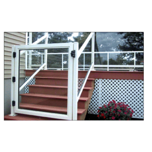 """CRL 35GG3642W Sky White 36"""" 350 Series Aluminum Railing System Gate for 1/4"""" to 3/8"""" Glass"""