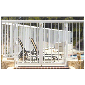"""CRL 35PG3642W Sky White 36"""" 350 Series Aluminum Railing System Gate With Picket for 1/4"""" to 3/8"""" Glass"""