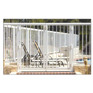 """CRL 1PG3642W Sky White 36"""" Aluminum Railing System Gate with Picket for 1/4"""" to 3/8"""" Glass"""