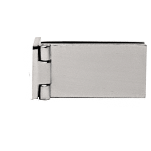 CRL EH85 Brushed Nickel Light Duty Frameless Shower Door Hinge - Square Corner Style