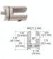 CRL SA61BS Brushed Stainless Swivel Hinge Glass Fitting