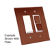CRL RSB2 Bronze Acrylic Mirror Rocker Appliques - pack of 5