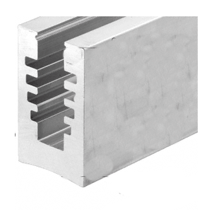"Surfacemate B5A10D B5A Series Aluminum Mill Hole Pattern ""D"" Bottom Mount Square Base Shoe"