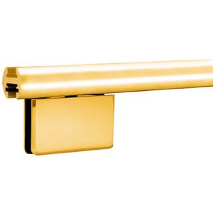 "CRL EHK144BGA Brite Gold Anodized 144"" EZ-Adjust Shower Door Header Kit"