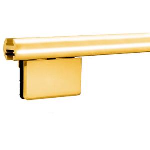 "CRL EHK98BGA Brite Gold Anodized 95"" EZ-Adjust Shower Door Header Kit"