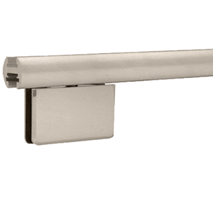 "CRL EHK98BN Brushed Nickel 95"" EZ-Adjust Shower Door Header Kit"