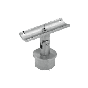 "CRL P75SBS Brushed Stainless 1.9"" Round Post P-Series Swivel Standoff Saddle"