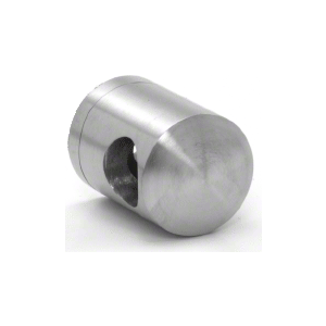 CRL CBR7BS Brushed Stainless Right End Standoff Connector (Flat Back)