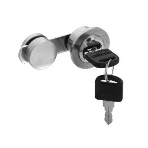 CRL UV4102BS Brushed Stainless UV Bond Lock for Double Glass Doors