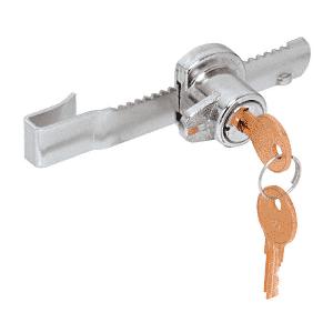 """CRL 963L Chrome """"Tamper Proof"""" Sliding Glass Door Lock with Standard Ratchet Bar"""