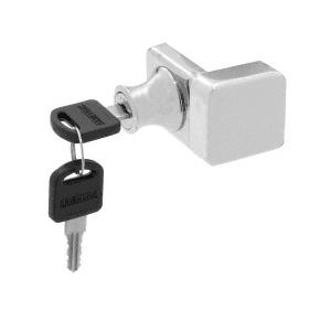 CRL UV4070CH Chrome UV Glass Door Lock for Overlay Doors