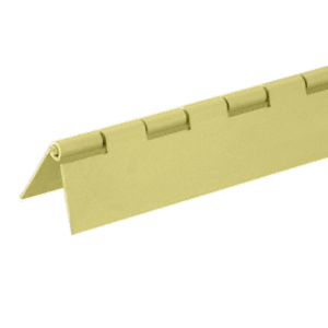 "Gold Anodized 1/2"" Aluminum Piano Hinge - 144"" Stock Length"
