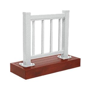 CRL ARS1PSS Metallic Silver 100 Series Aluminum Picket Railing System Small Showroom Display