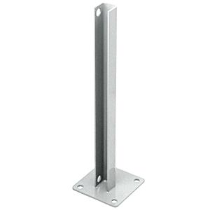 CRL PSB3BS Metallic Silver AWS Steel Stanchion for 90 Degree Rectangular Corner Posts