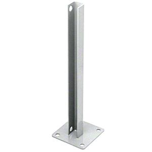 CRL PSB3CS Metallic Silver AWS Steel Stanchion for 90 Degree Rectangular Corner Post