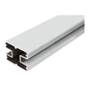 "CRL SP60S Silver Metallic 60"" Long 2"" x 2-5/8"" Square 180 Degree Post"
