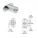 CRL FG779 Chrome T-Bolt Plunger Lock