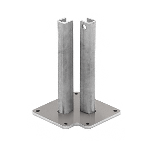 "CRL BPLST30BS Brushed Stainless Steel Surface Mount Stanchion for up to 72"" Barrier Corner Post"