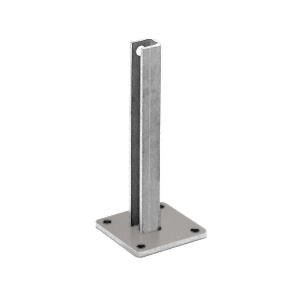 "CRL BPCST30BS Brushed Stainless Steel Surface Mount Stanchion for up to 72"" Barrier Center Post"