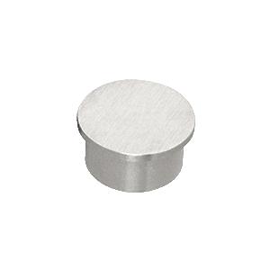 """CRL HRH15ECBS Brushed Stainless Flat End Cap for 1-1/2"""" Outside Diameter Tubing"""