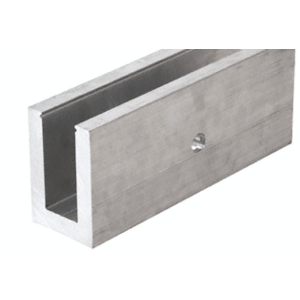 """Mill Aluminum L21S Series Standard Square Base Shoe Drilled with 9/16"""" Fascia Holes Pattern """"F"""" 118-1/8"""" Length"""