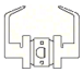 CRL LH10PS Polished Stainless Grade 1 Lever Lock Housing - Passage