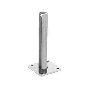 """Polished Stainless Steel Surface Mount Stanchion for up to 72"""" Barrier Center Post"""