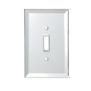 White Toggle Switch Back Painted Glass Cover Plate