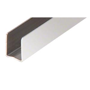 "Polished Stainless 3/8"" Radiused Back Steel U-Channel - 98"""