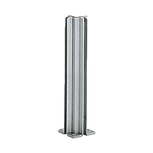 "Satin Anodized 14"" 4-Way Design Series Partition Post"