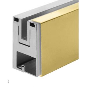 Polished Brass Outside Fascia Cladding for RG650 Base Shoe