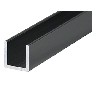 "CRL D321BL Flat Black 3/8"" Single Aluminum U-Channel"